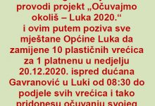 Photo of Očuvajmo okoliš – Luka 2020